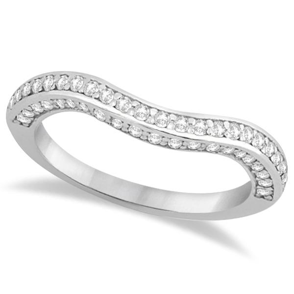 Split Shank Diamond Halo Channel Bridal Set 14k White Gold 1.64ct