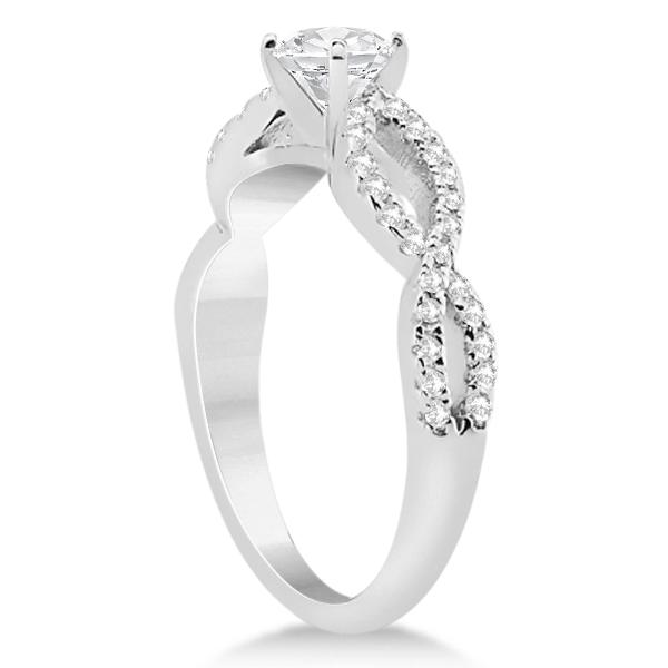 Infinity Twist Diamond Ring with Band Setting Palladium (0.60ct)