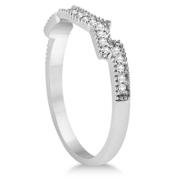 Butterfly Diamond & Blue Sapphire Bridal Set 18k White Gold (0.39ct)