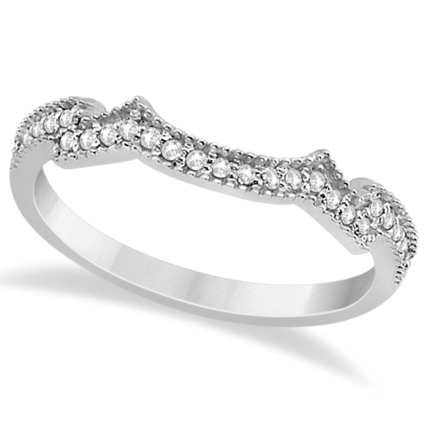Milgrain Semi-Eternity Diamond Band Setting 14K White Gold (0.15ct)