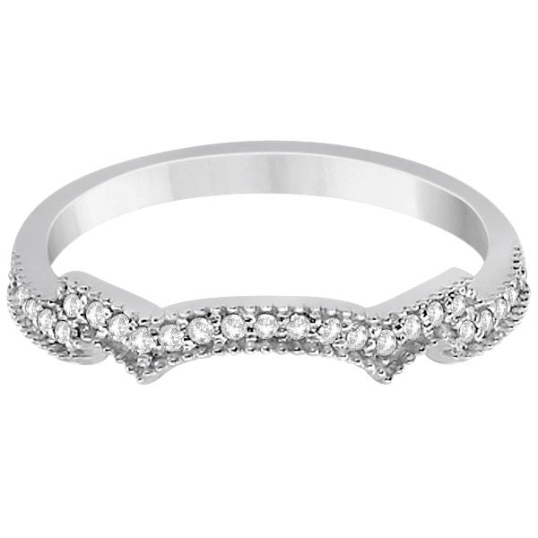 Milgrain Semi-Eternity Diamond Band Setting Palladium (0.15ct)