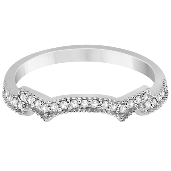 Milgrain Semi-Eternity Diamond Band Setting Platinum (0.15ct)
