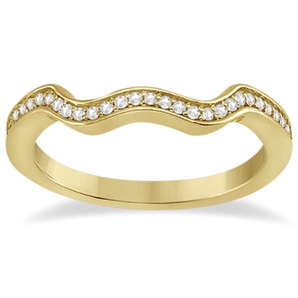 Heart Diamond Engagement Ring & Wedding Band 18k Yellow Gold (0.33ct)