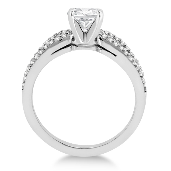 Cathedral Split Shank Diamond Engagement Ring Platinum (0.23 cts)