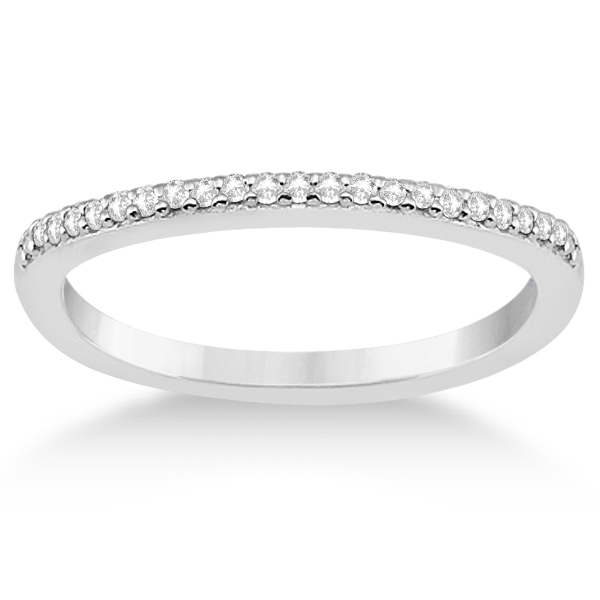 Cathedral Split Shank Diamond Ring & Band Set Palladium (0.35ct)