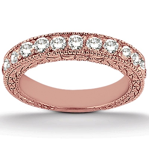 Antique Diamond Engagement Ring & Wedding Band 14k Rose Gold (1.70ct)