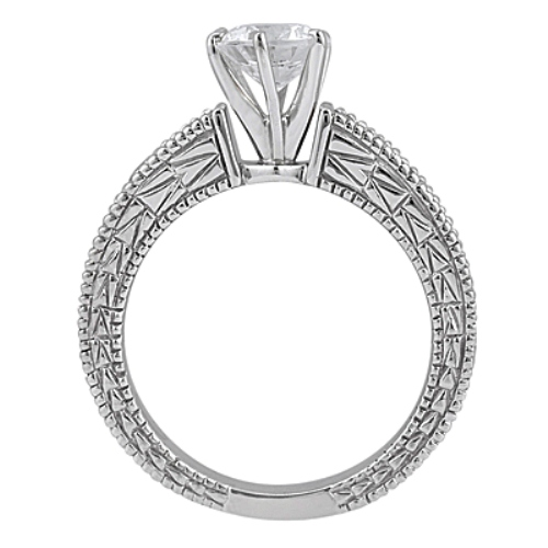 Antique Diamond Engagement Ring & Wedding Band Platinum (1.70ct)