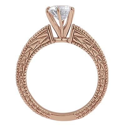 Antique Diamond & Ruby Bridal Set 14k Rose Gold (1.80ct)