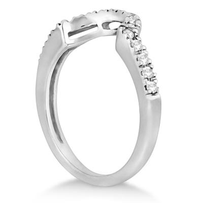 Halo Engagement Ring & Matching Wedding Band 14k White Gold (0.55ct)