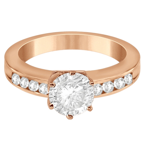 Classic Channel Set Diamond Engagement Ring 18K Rose Gold (0.30ct)