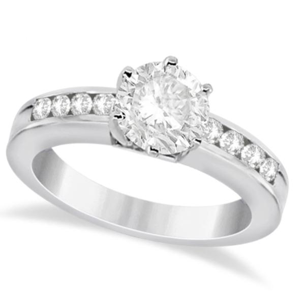 Classic Channel Set Diamond Engagement Ring Platinum (0.30ct)