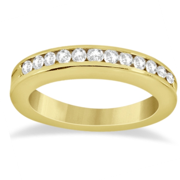 Classic Channel Set Diamond Bridal Ring Set 14K Yellow Gold (0.72ct)