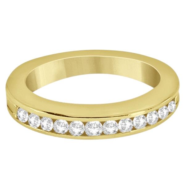 Classic Channel Set Diamond Wedding Band 14K Yellow Gold (0.42ct)