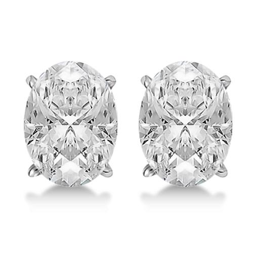 1.50ct. Oval-Cut Diamond Stud Earrings 14kt White Gold (G-H, VS2-SI1)