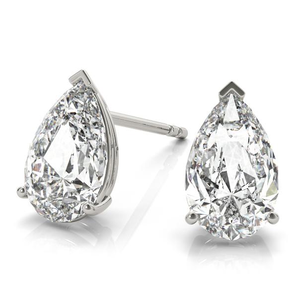 2.00ct Pear-Cut Lab Grown Diamond Stud Earrings 14kt White Gold (G-H, VS2-SI1)