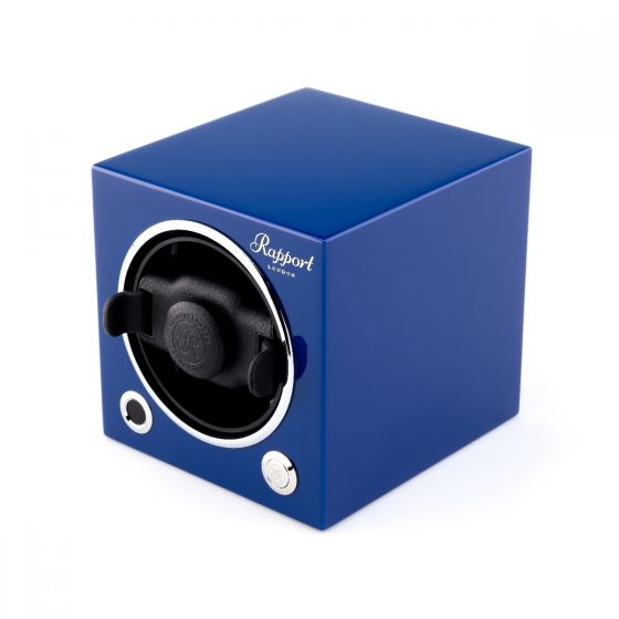 Rapport London Evocube Electric Single Watch Winder Admiral Blue