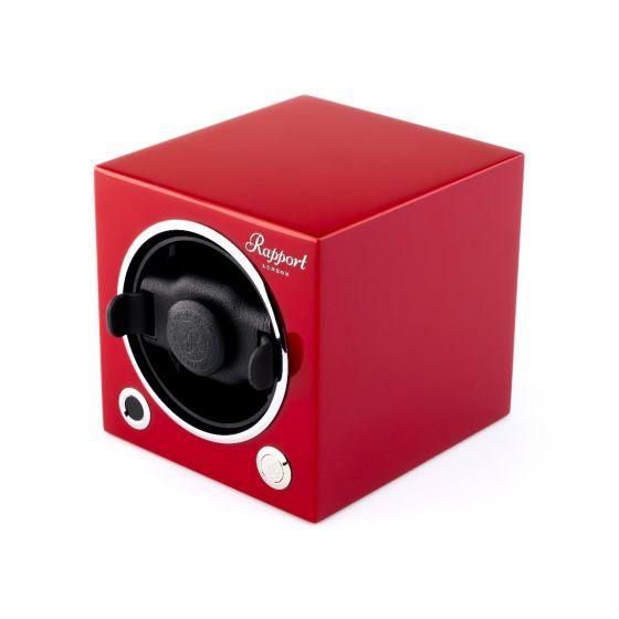 Rapport London Evocube Electric Single Watch Winder Crimson Red