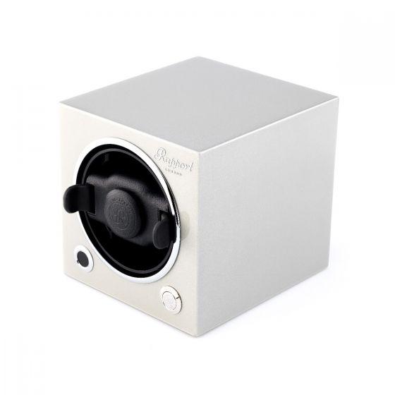 Rapport London Evocube Electric Single Watch Winder Platinum Silver