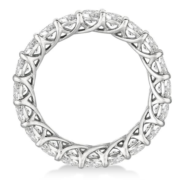 Luxury Diamond Eternity Band Anniversary Ring 14k White Gold (3.00ct)