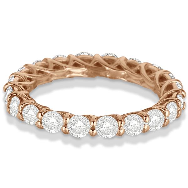 Luxury Diamond Eternity Anniversary Ring Band 14k Rose Gold (2.50ct)