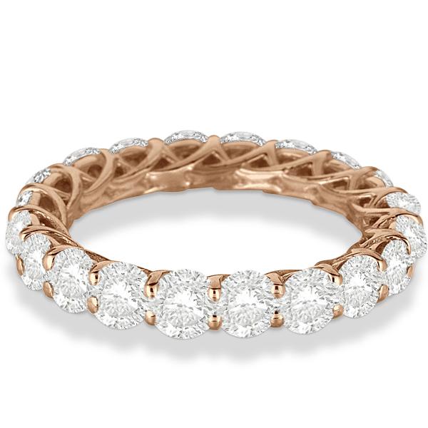 Luxury Diamond Eternity Ring Anniversary Band 14k Rose Gold (4.00ct)