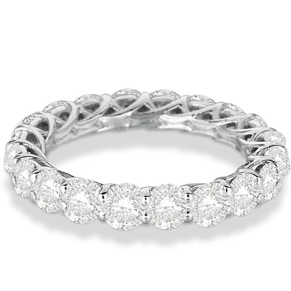Luxury Diamond Eternity Ring Anniversary Band 14k White Gold (4.00ct)