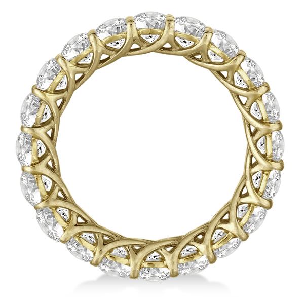 Luxury Diamond Eternity Anniversary Ring Band 14k Yellow Gold (4.50ct)