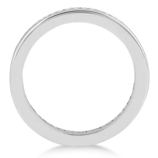 Channel-Set Diamond Eternity Ring Band in Palladium (1.50 ct)