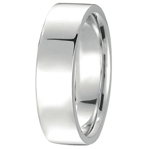 Palladium Wedding Band Plain Ring Flat Comfort Fit for Men (7 mm)