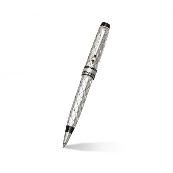 Aurora Riflessi Ballpoint Pen in Sterling Silver Barrel, Cap, & Trim