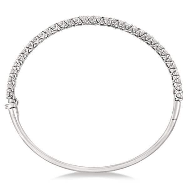 Luxury Stackable Diamond Bangle Bracelet 14k White Gold (4.00ct)