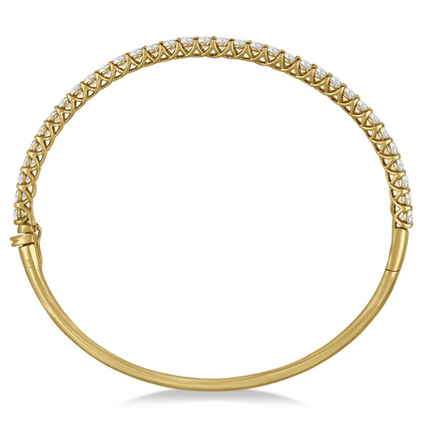 Luxury Stackable Diamond Bangle Bracelet 14k Yellow Gold (4.00ct)