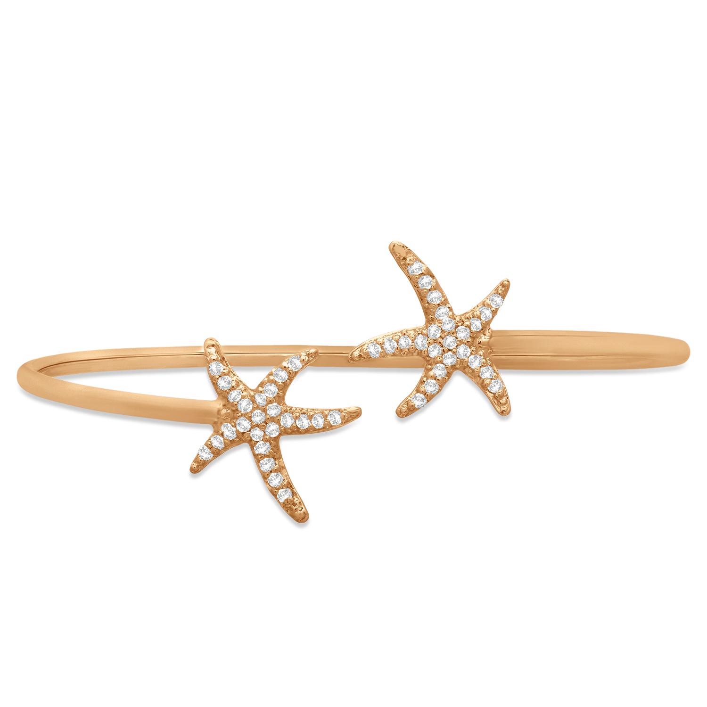 Diamond Starfish Bracelet 14k Rose Gold (0.50ct)