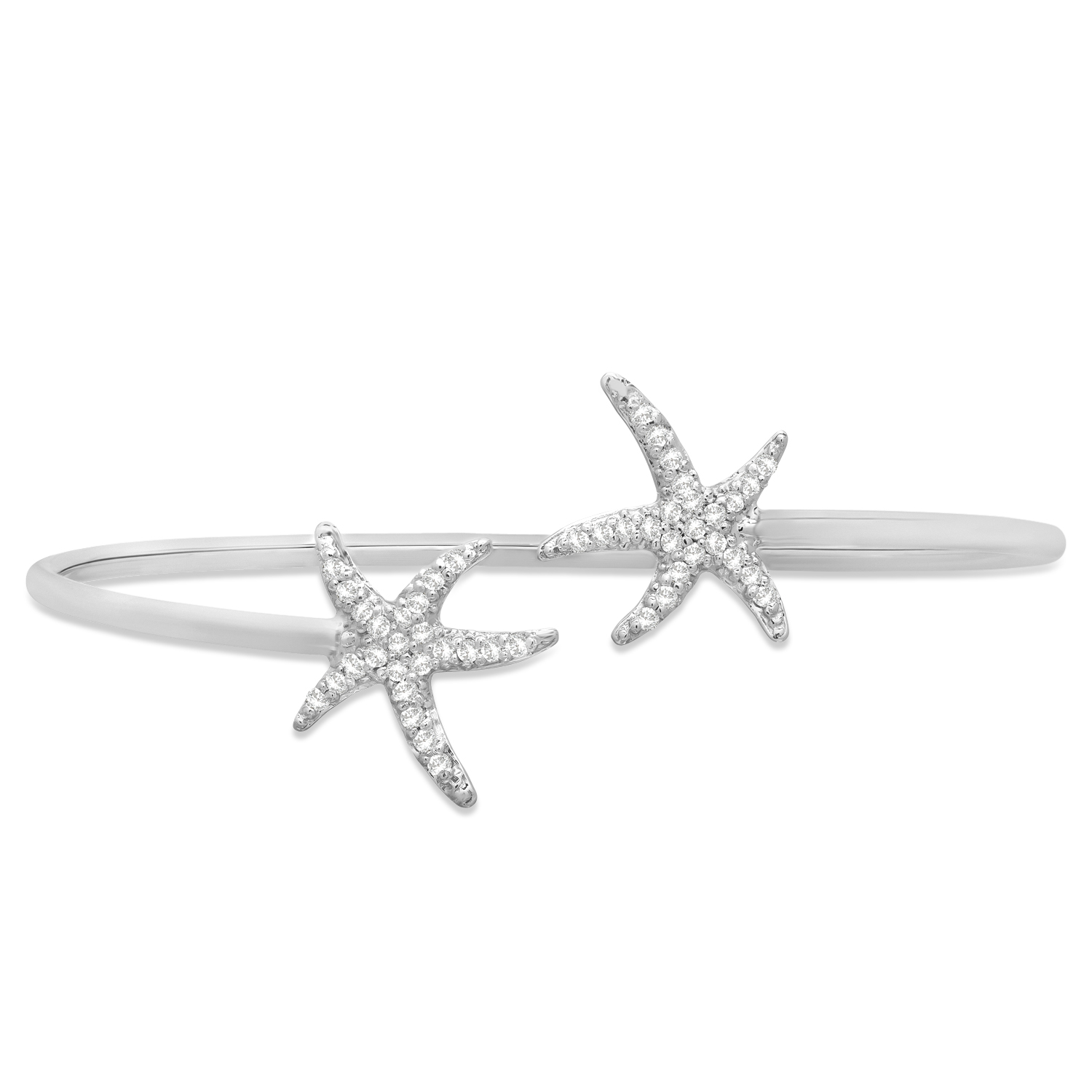 Diamond Starfish Bracelet 14k White Gold (0.50ct)