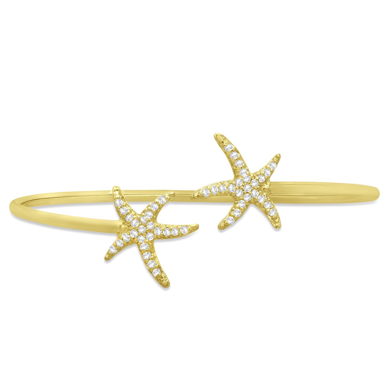 Diamond Starfish Bracelet 14k Yellow Gold (0.50ct)