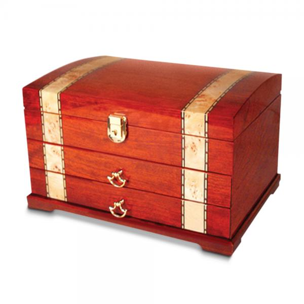 women 39 s velvet lined drawers ring rolls red inlaid wood