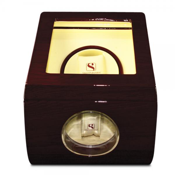 Women's Gloss Cherrywood Faux Leather LiningFinish Single Watch Winder