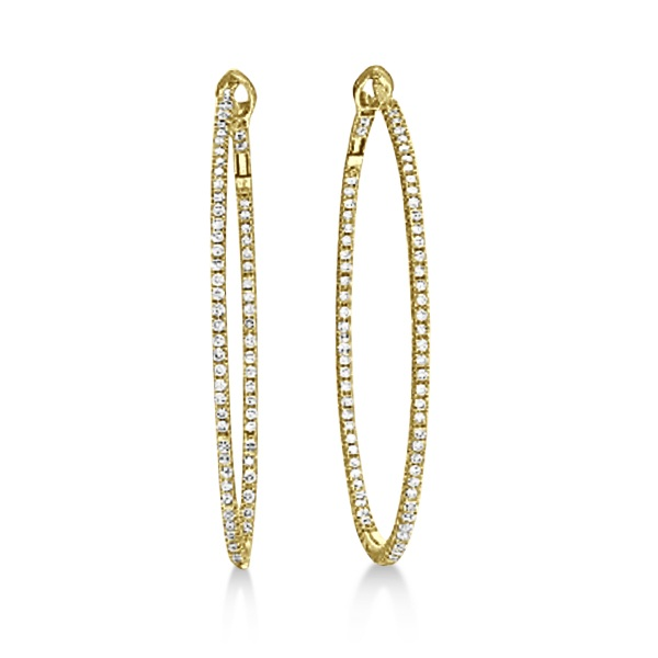 Hidalgo Micro Pave Diamond Hoop Earrings 18k Yellow Gold (1.19 ct)