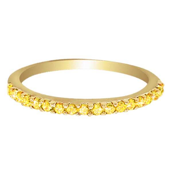 Hidalgo Pave Yellow Diamond Eternity Ring 18k Yellow Gold (0.26 ct)