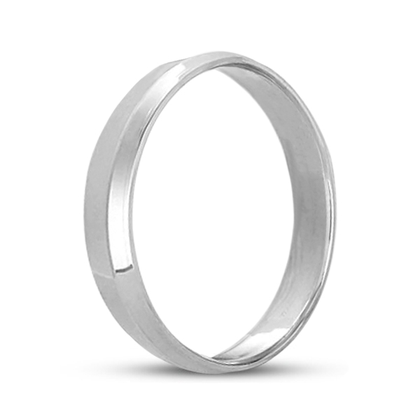 Knife Edge Wedding Ring Band Comfort-Fit Platinum (4mm)