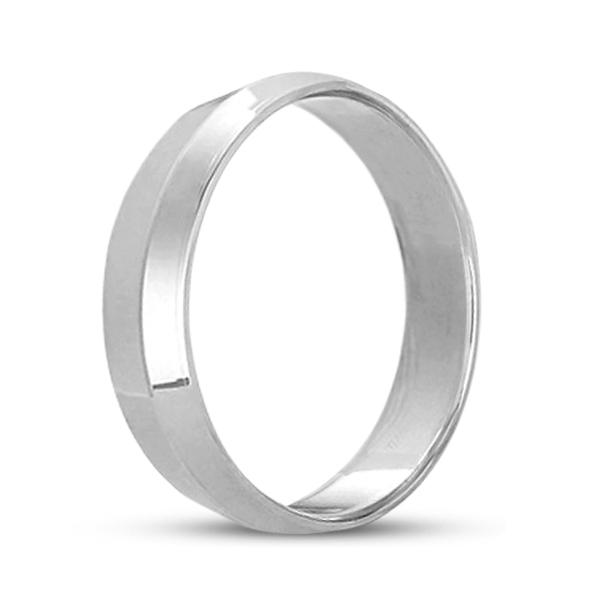 Knife Edge Wedding Ring Band Comfort-Fit Palladium (5mm)