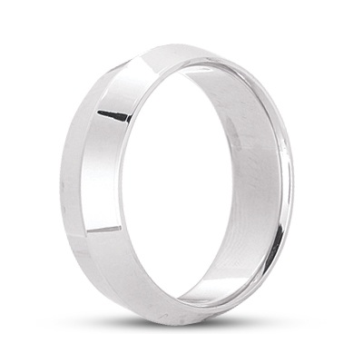 Knife Edge Wedding Ring Band Comfort-Fit Platinum (7mm)