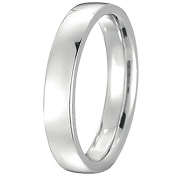 Platinum Wedding Ring Low Dome Comfort Fit (4 mm)