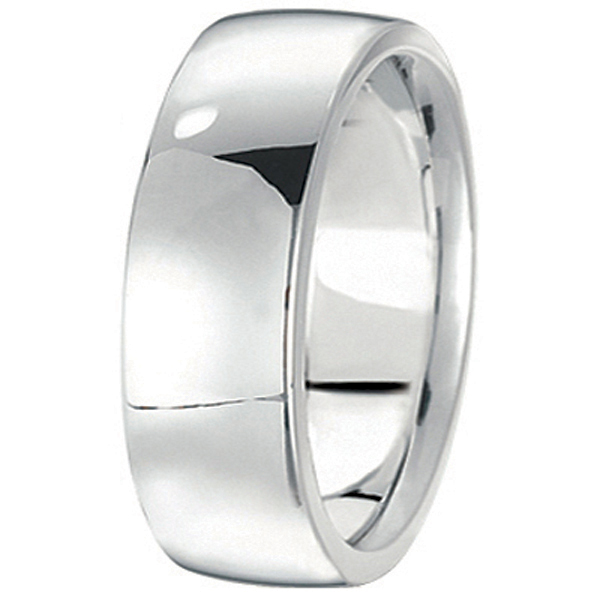 Men's Wedding Band Low Dome Comfort-Fit in Platinum (7 mm)