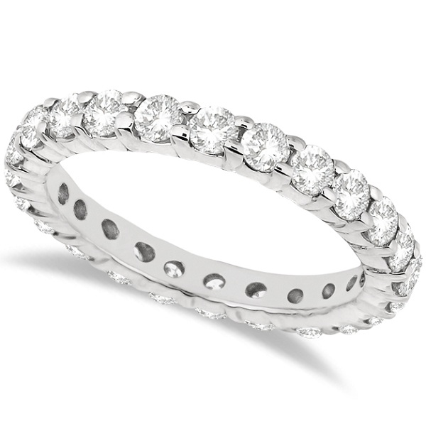 Lab Grown Diamond Eternity Ring Wedding Band in 14k White Gold (2.00ct)