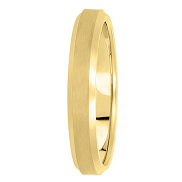Comfort-Fit Carved Wedding Band in 14k Yellow Gold (4mm)