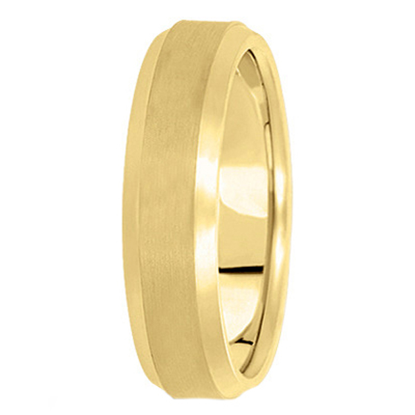 Comfort-Fit Carved Wedding Band in 14k Yellow Gold (6mm)