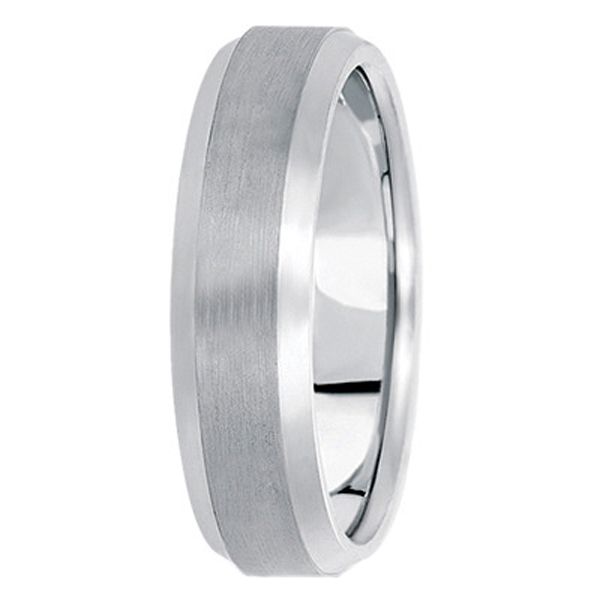Comfort-Fit Carved Wedding Band in Platinum (6mm)