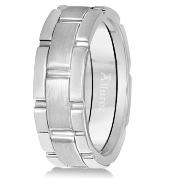 Unique Wedding Band Comfort-Fit in Palladium (8.5mm)