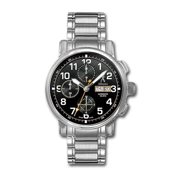 Allurez Men's Swiss-Made Auto-Mechanical Chronometer Timepiece